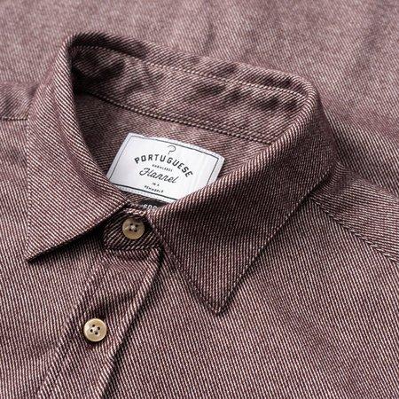 Portuguese Flannel SOBREIRO Shirt - BURGUNDY