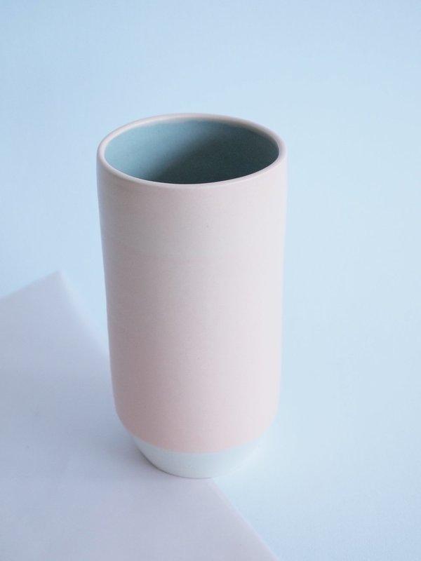 YYY blue speckled vase