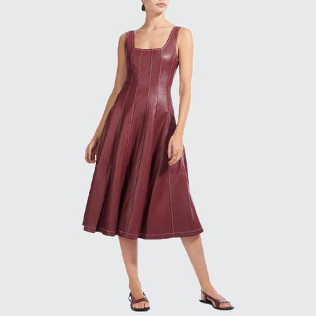 Staud Wells Vegan Leather Dress - bord