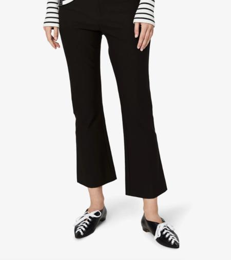 derek lam 10 crosby cropped flare trouser - black