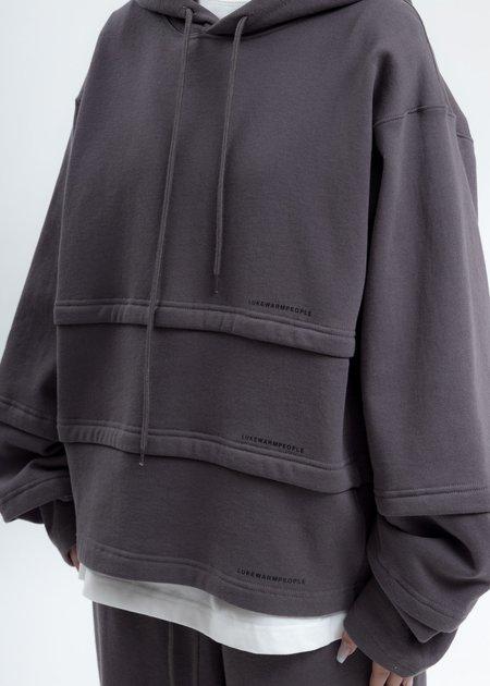LUKEWARMPEOPLE Triple Layer Hoodies - Grey