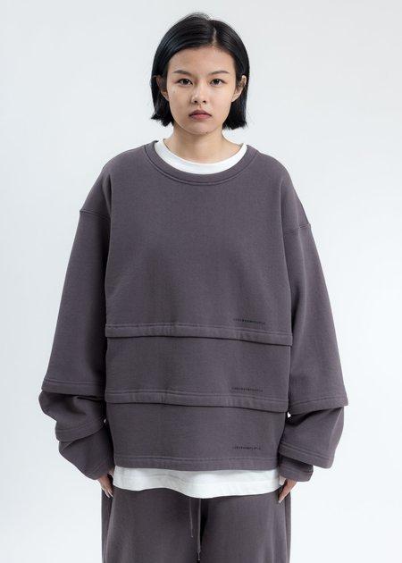 LUKEWARMPEOPLE Triple Layer Sweatshirt - Grey