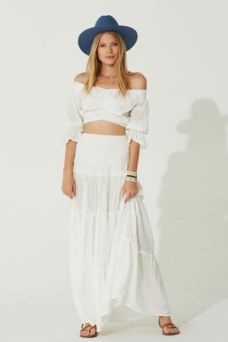 Jen's Pirate Booty Monara Maxi Skirt - White