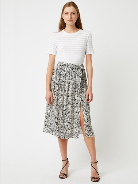 Great Plains Javan Print Skirt - Black/White