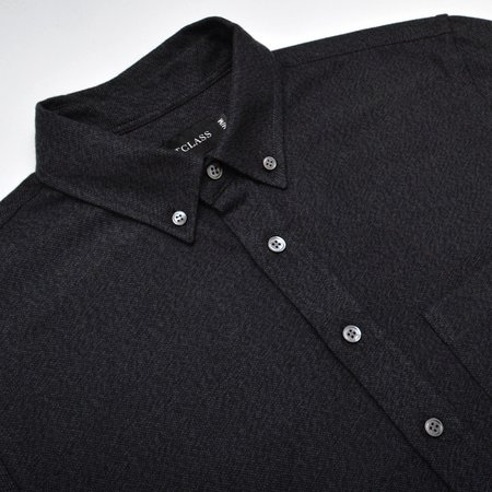 S-OUTCLASS TWILL FLANNEL L/S shirt - charcoal