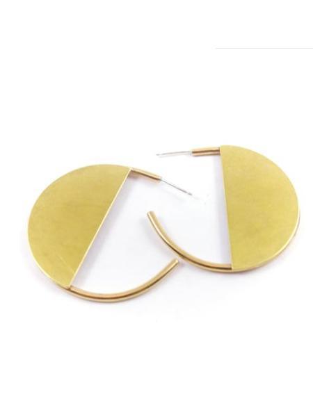 Dea Dia Sol Hoops - Brass