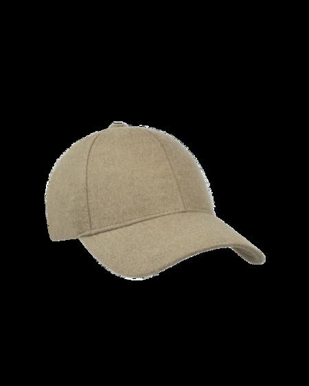 unisex Varsity Headwear Camel Wool Cap - Beige