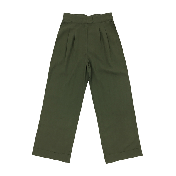 Ali Golden ROLL-CUFF PANT - OLIVE