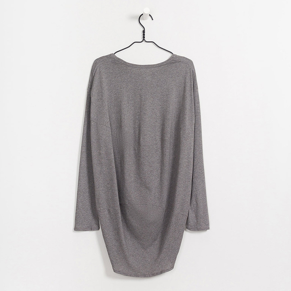 Kowtow Building Block drape back top - grey marble