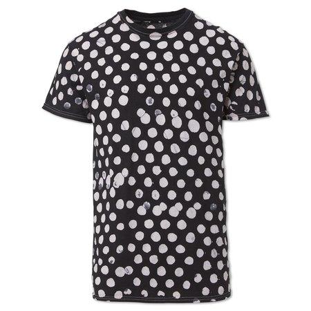 Unisex Studio One Eighty Nine Polka Dots Cotton Hand-Batik S189 T-shirt - Black/White