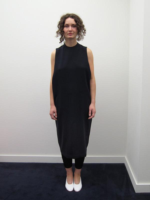 KAAREM Dill High Collar Dress, Blue/Black