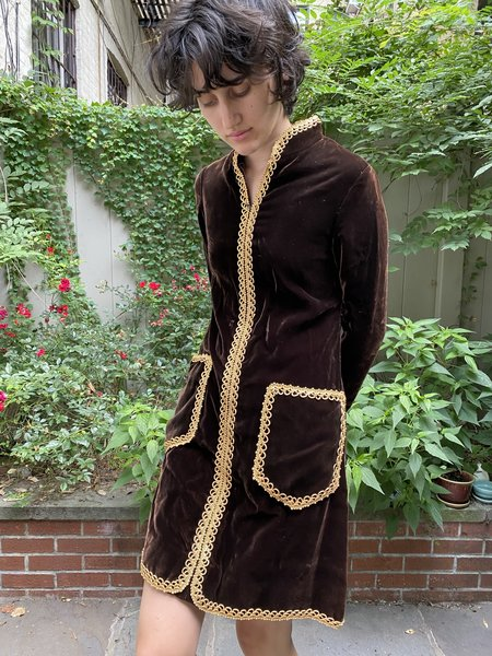 Vintage Oscar de la renta Velvet Dress