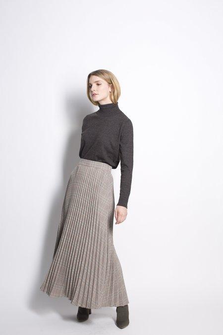 Six Crisp Days Moska Skirt - Grey Plaid