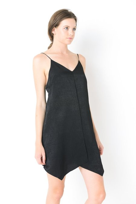 Six Crisp Days Tie Back Slip Dress - Black