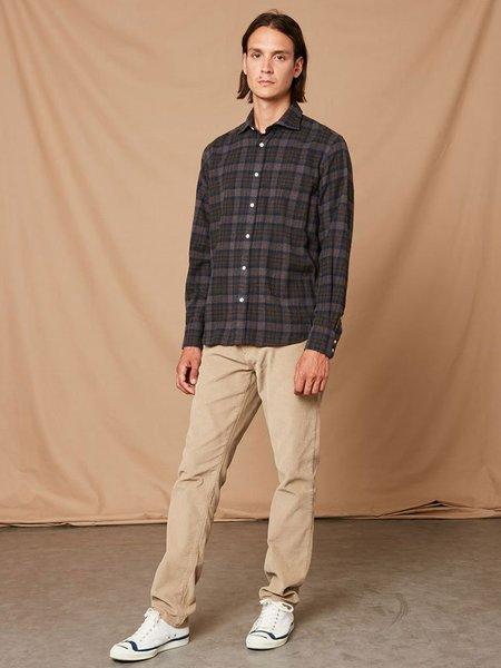 Hartford Paul Canclini Plaid Shirt - Orange/Browne/Blue