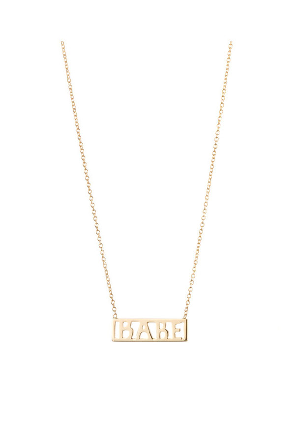 Winden Babe Necklace, 14K Yellow Gold
