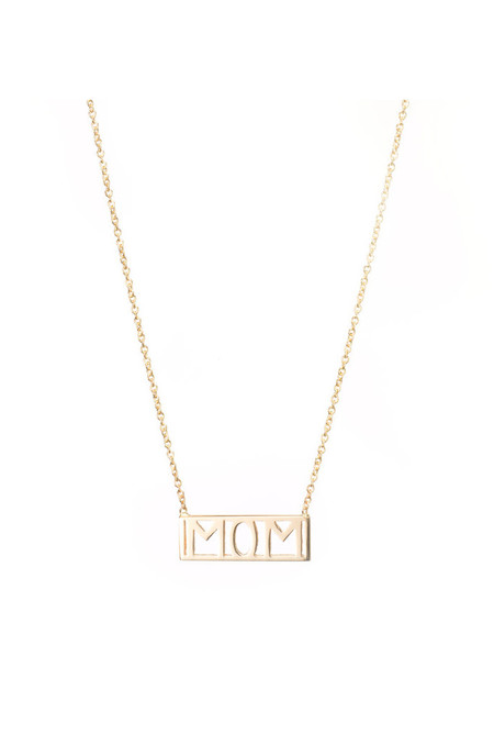 Winden Mom Necklace, 14K Yellow Gold