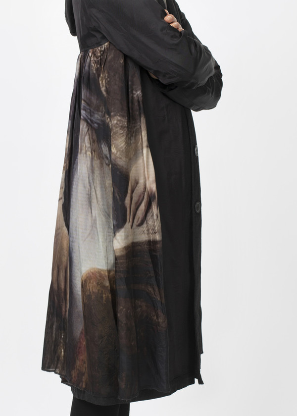 Rundholz Reversible Pleated Painting Coat