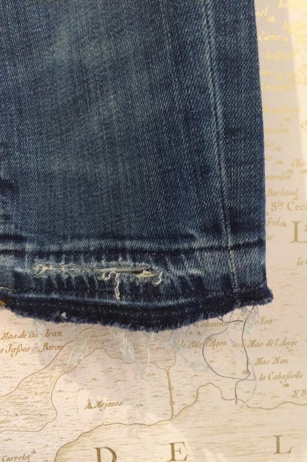 R13 'Alison' Crop in Strummer Blue