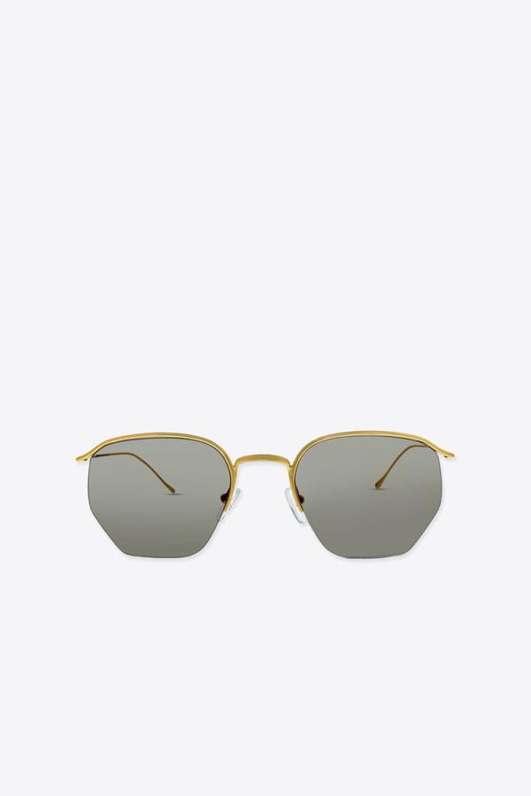 Smoke x Mirrors Geo I sunglasses in gold/light green