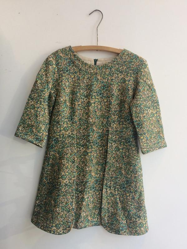 Delphine LIBERTY ROBE VERTE / GREEN DRESS