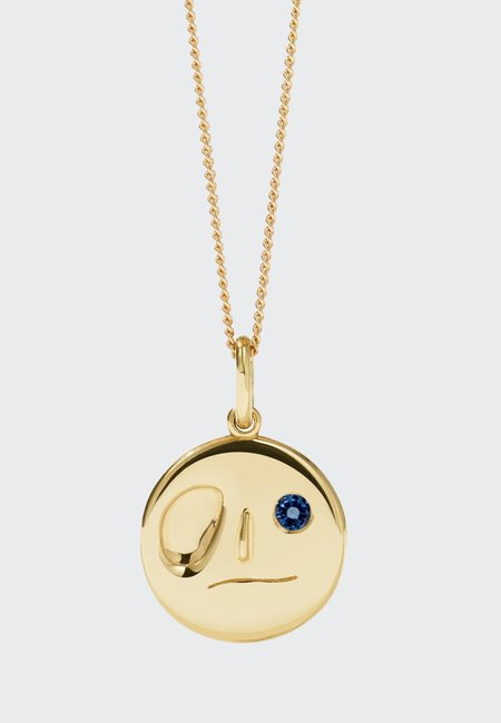 Meadowlark Miro Necklace - gold/dark blue sapphire