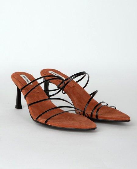 Reike Nen 5 Strings Pointed Sandals - Black/Rose