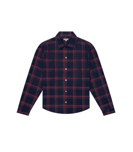 Knickerbocker Flannel Workshirt - Red/Navy