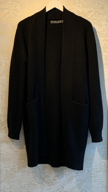Doffer Boys Cashmere Car Coat - black