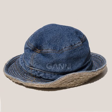 Ganni Denim Bucket Hat
