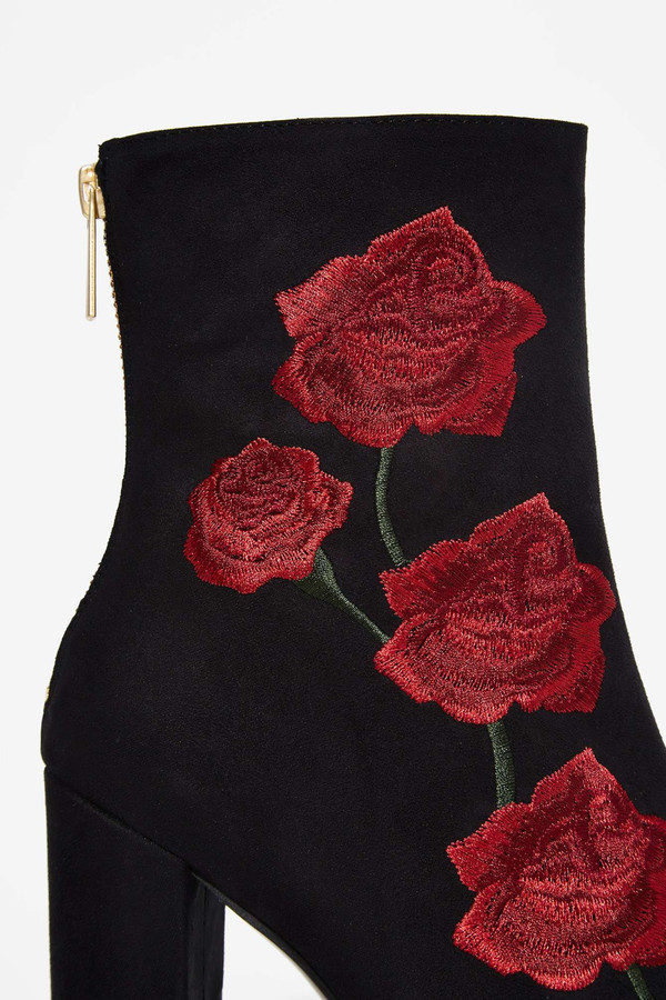Intentionally Blank  ROSA Embroidered Boot in Black
