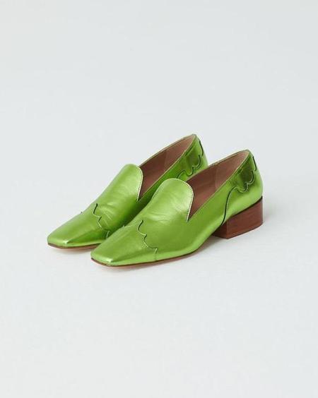 Paloma Wool Luke Loafer - Mettalic Green