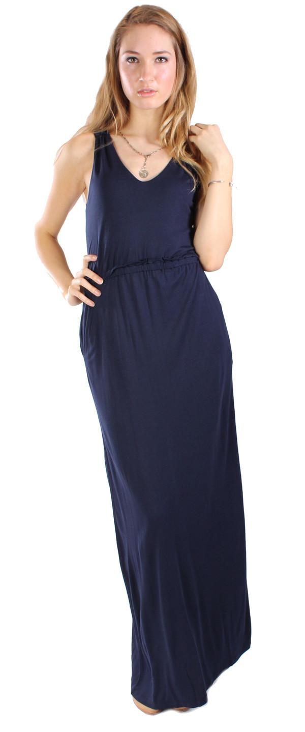 Chinti & Parker Bamboo Jersey Maxi V-Neck  Dress