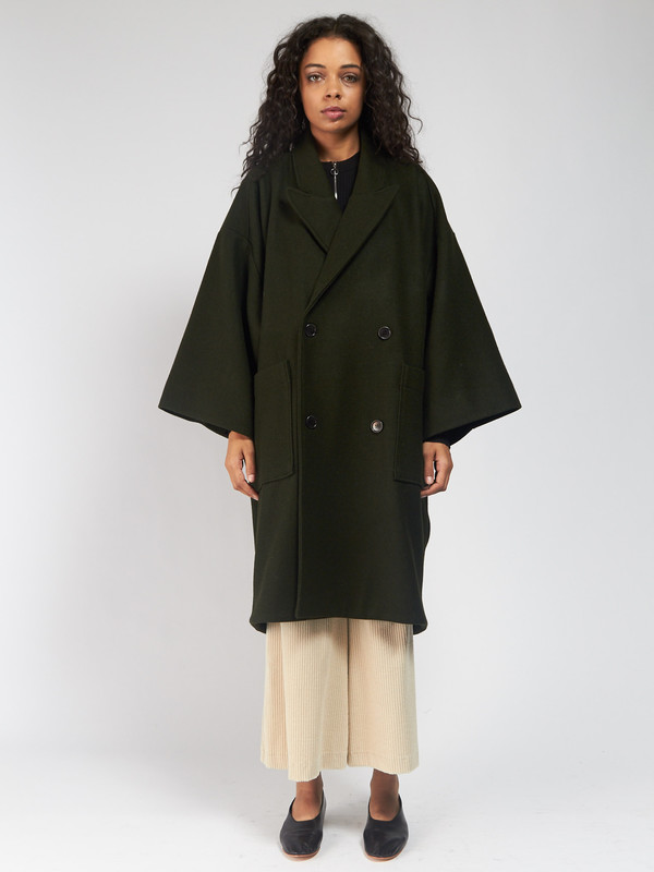 Henrik Vibskov Last Coat Hunter Green