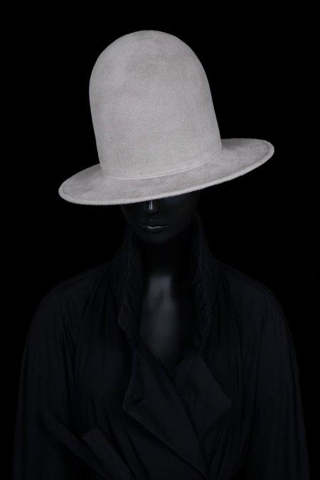 Esenshel DOME OVERSIZED ROUND BRIM HAT - SILVER