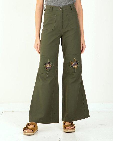 W'Menswear Peace-N-Patch Pants - green