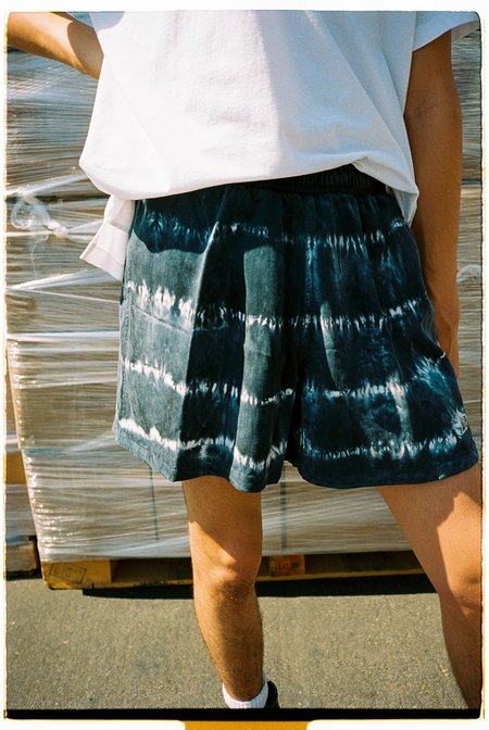 Lost Daze Washed Tencel Shorts - Black Tie-Dye