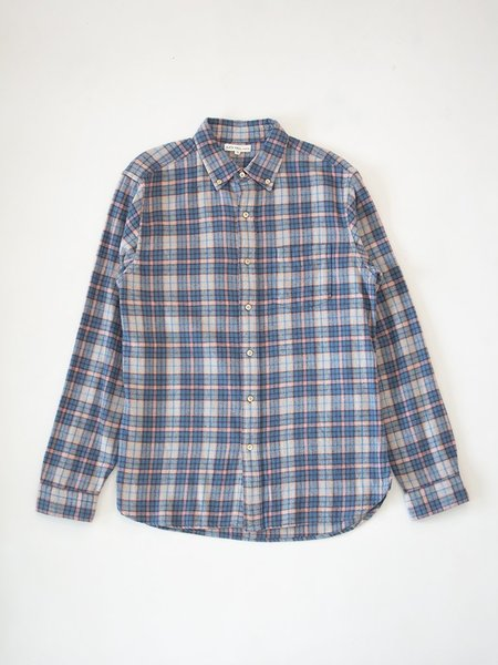 Alex Mill Plaid Flannel Shirt - Blue/Pink