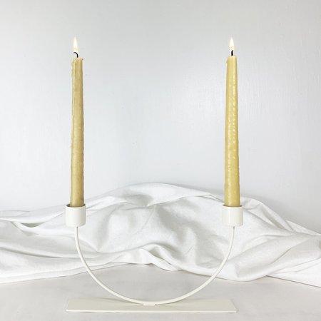 Cuttalossa & Co. U Shaped Candle Holder - Cream