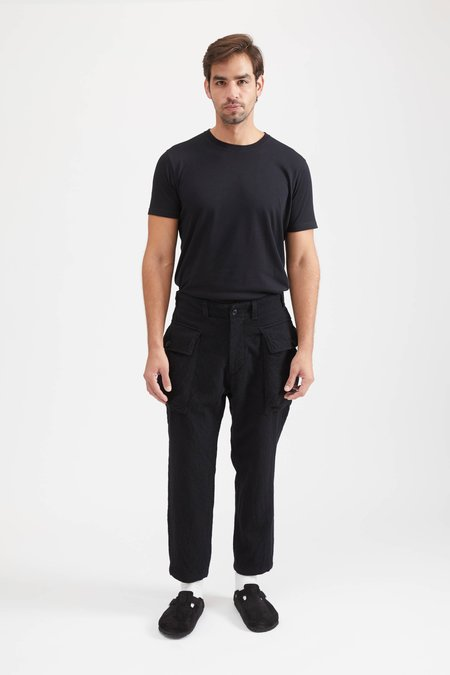 Sage De Cret 9/10 Length Military Trousers Wool - Black