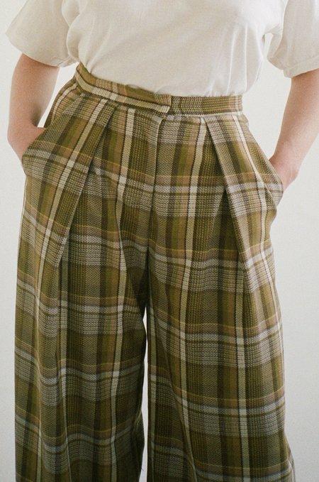 Vincetta Plaid Wide Leg Trouser