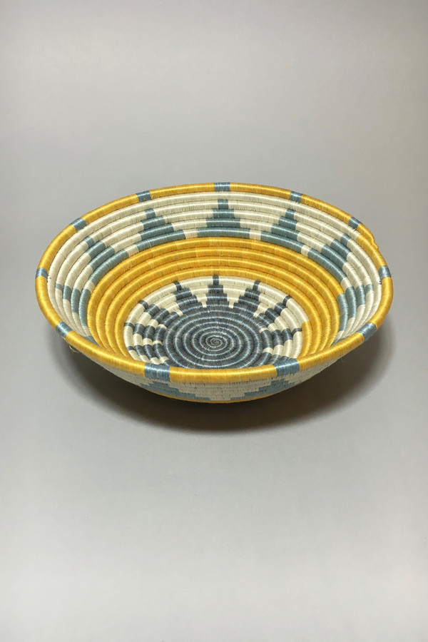 All Across Africa Large Neon Yellow Thousand Hills Basket