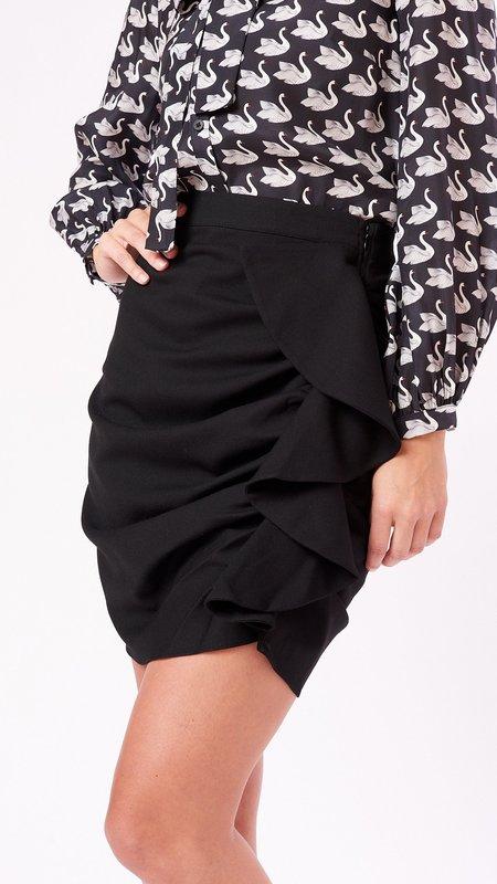Marie Oliver Rachel Ruched Skirt - Black