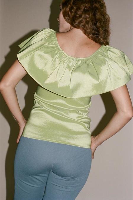 Maryam Nassir Zadeh Alina Top - Chartreuse