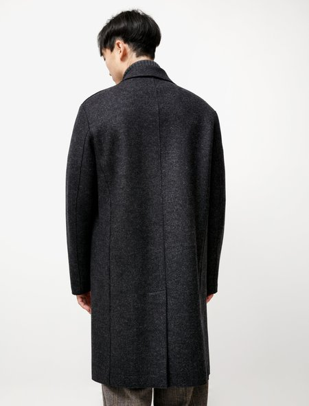 Harris Wharf London Mac Coat Double Faced Twill - Charcoal