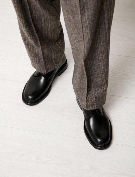 Our Legacy Uniform Parade Leather Derby Shoe - Black