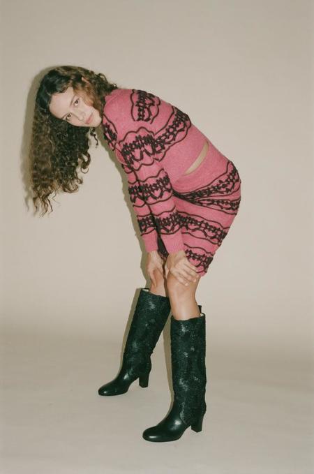 Mozh Mozh Dust Skirt - Pink