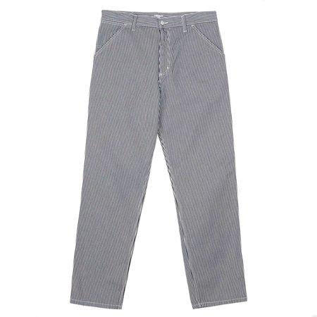 Carhartt Wip Single Knee Pant - Blue/White Rinsed