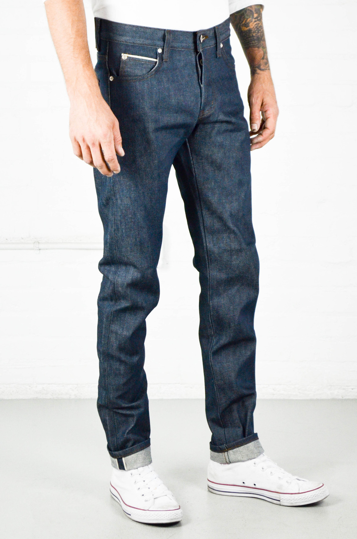 13d67b1f1bb4 Men s Naked and Famous Rusted Blue Selvedge Super Skinny Guy ...