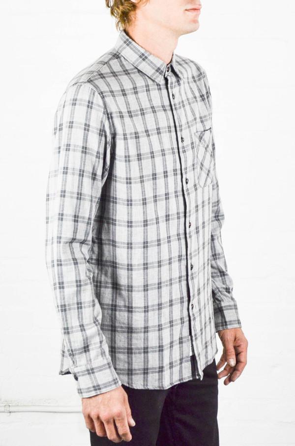 Men's Rag and Bone Grey Check Beach Shirt